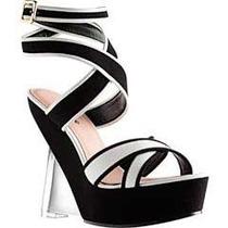 Sandalias Zapatillas Zapato Andrea Negras Tacón Transparente