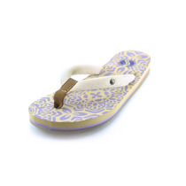Sandalias Color Crema, Correa Textil Para Mujer
