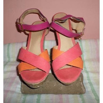 Zapatos Tela Corcho Vms 8 Margarita All Man Made Materials