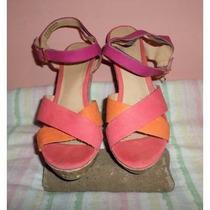 Zapatos Tela Corcho Vms 8 Margarita All Man Made Materials¿