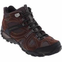 Botas Caminata Merrell Dark Earth Boulder Waterproof Premium