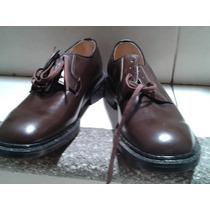 Zapatos Cafés De Piel 5 1/2