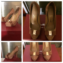 Salvatore Ferragamo Zapatillas Pumps Color Nude En Piel 4mex