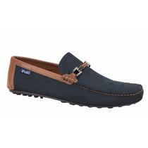 Zapato Mocasín Casual Hpc Polo 1840 Choclo Gamuza