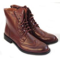 Bota De Piel Zapato Botin Casual Para Hombre Tipo Militar