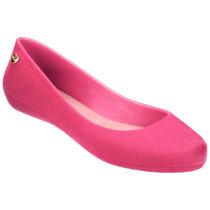 Mel Flocked Zapato Flat Dama Balerina Rosa Mel By Melissa