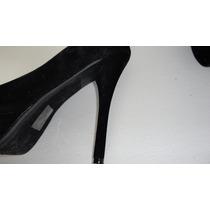 Zapatillas Altas En Color Negro Gamusa Deliciuos