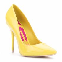 Zapatos Zapatillas Andrea Amarillas De Charol De Piel