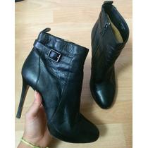 Padrisimos Zapatos Tacones Ann Taylor Piel Finisima Negros!!