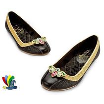Zapatos Zapatillas Disfraz Anna Frozen Original Disney Store