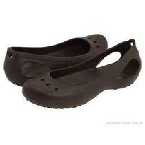 Crocs Kadee Flat Zapato Sandalia Cafe Originales Importado