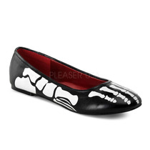 Zapatos Flats Negros Con Esqueleto Zombie Halloween X-ray-01