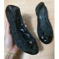 Padrisimos Flats Tahari Wool Patent Leather 100% Originales!