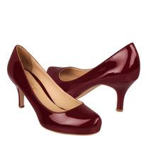 Perugia Zapatos Dama Tacones 75015 Charol Vino