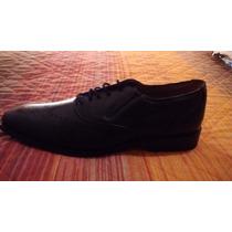 Zapatos Negro Tipo Oxford En Piel Vacuna