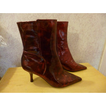 Nine West Navar Botines Color Rojo Talla 4.5 Mexicano