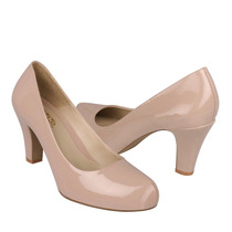 Stylo Zapatos Dama Tacones 2500 Charol Beige