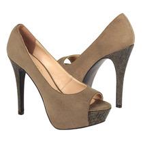Stylo Zapatos Dama Tacones 56606 Suede Rusell/rato