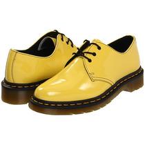 Zapato Clásico Dr Martens 1461 Charol Amarillo Choclo Botas