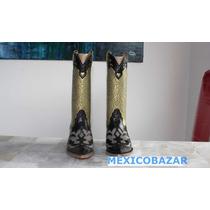 Botas Para Mujer Modelo Texano, Color Negro On35.5