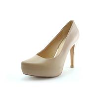 Zapatos De Piel Con Aplicacion Metalica En Tacon
