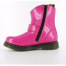 Niñas Botas Dr Martens Rosa Blip Hot Pink Charol Kids Gym