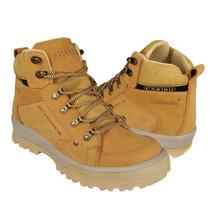 Caribu Zapatos Caballero Botas 740 Nobuck Paja