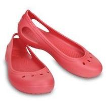 Crocs Kadee Flat Rosa Originales Zapato Importado Sandalia