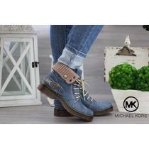 Botín Mk Doble Vista Botas Mujer Zapatos Michael Kors