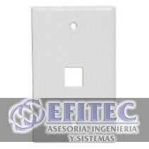 Efi- 41080-1wp -leviton Placa De Pared Quickport Blanca