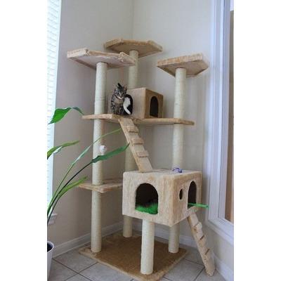 Arbol trepador rascador para gatos casa mascota juego - Casas para gatos baratas ...