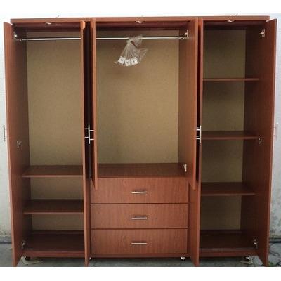 Hermoso closet ropero moderno minimalista 3 piezas moec for Closet en melamina modernos