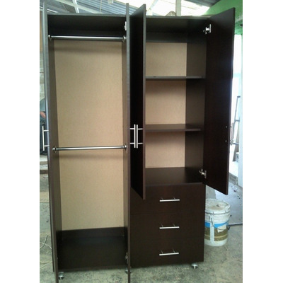 Closet ropero minimalista cajones entrepa os tubo for Cotizacion de closets