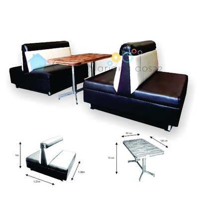 Sill n booth para restaurante vips lounge bar cafeteria for Mobiliario para bar