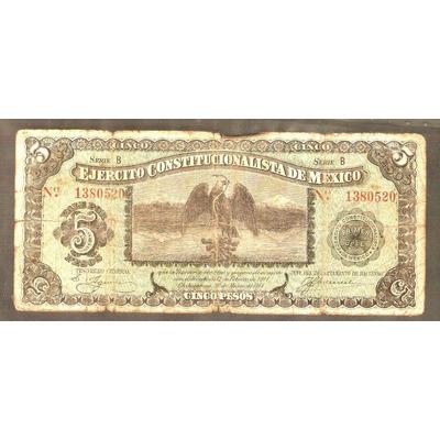 Barato billete de 5 pesos 200 0 numism tica calchay - Billetes muy baratos ...