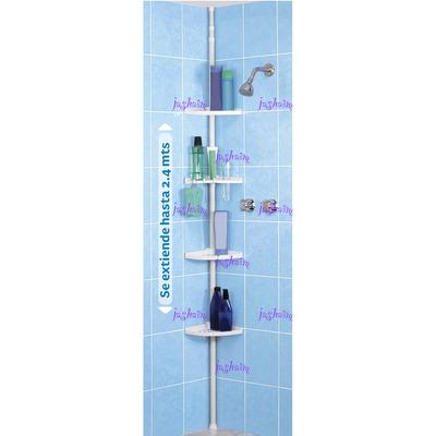 Repisas Esquina Baño Organizador Armable Ajustable Nuevo ...