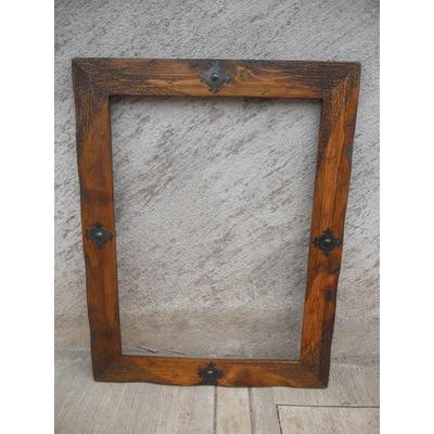 Marco para espejo r stico madera de for Marcos y espejos