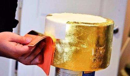 9804b5e7c ... comprar 8 Hojas De Oro Comestible Para Decoración De Repostería ...