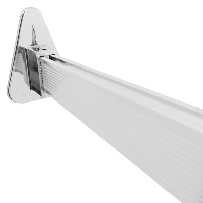 Tubo para cortina de ba o riel flexible de aluminio for Ganchos para cortinas de riel