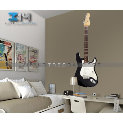 Vinilo decorativo musical guitarra el ctrica 03 for Vinilo decorativo musical pared