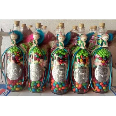 Como Hacer Botellas Decoradas Con Dulces