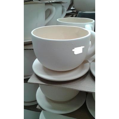 20 juegos de tazas con platos en ceramica para pintar for Tazas grandes