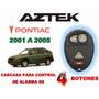 01-05 Pontiac Aztek Carcasa Para Control Alarma 4 Botones