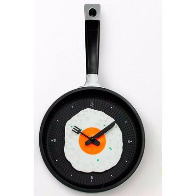 Reloj de pared para cocina dise o sarten con huevo - Reloj cocina diseno ...