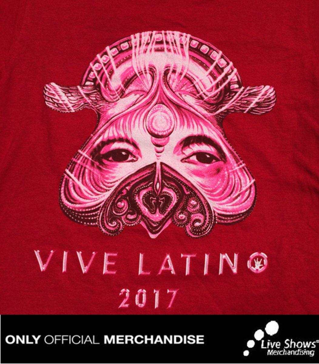 Playera Oficial Vive Latino 2017 para Dama