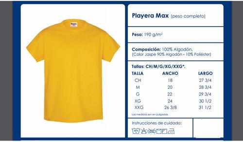 Playera De Algodón Lisa Para Estampar O Bordar Optima Max en venta ... 6f9e17c216d63
