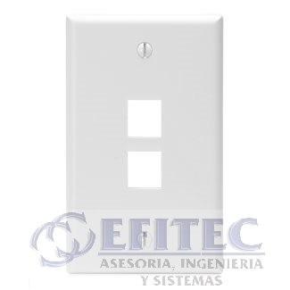Efi- 41080-2wp - Leviton Placa Dpared Dos Puertos Blanca