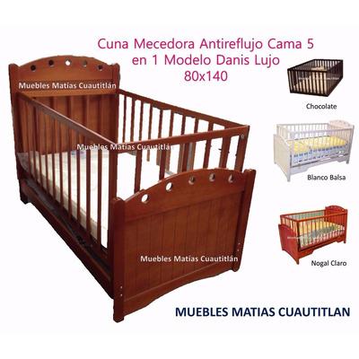Cuna cama mecedora funcional madera pino mdf colchon 3 en mercado libre - Cama cuna en madera ...