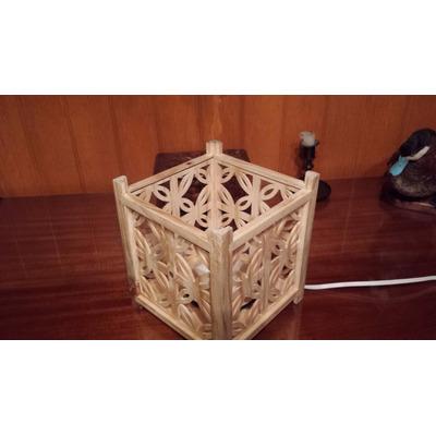 Lampara de buro estilo japonesa grabado tradicional - Lamparas estilo japones ...