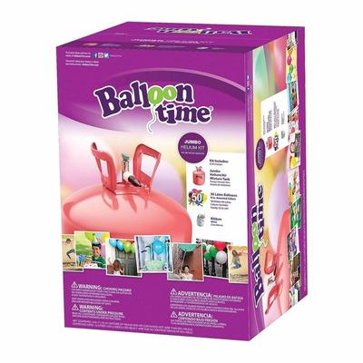 Tanque de helio con 50 globos ballom time tanque - Llenar globos con helio ...